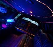 roze limo interieur